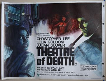 Theatre of Death Film Poster - UK Quad